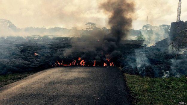 Río de lava en Hawai