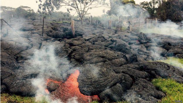 Lava del volcán