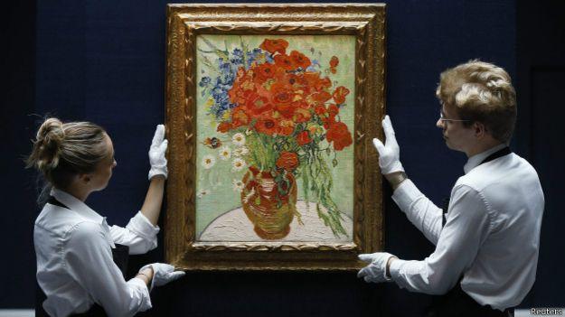 """Ван Гог, """"Натюрморт. Ваза с ромашками и маками"""""""