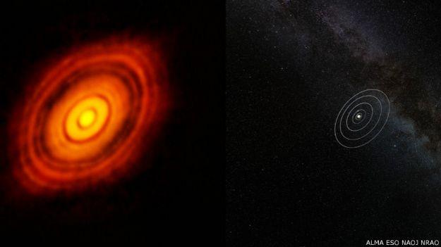 HL Tauri / Crédito: Alma (ESO/NAOJ/NRAO)