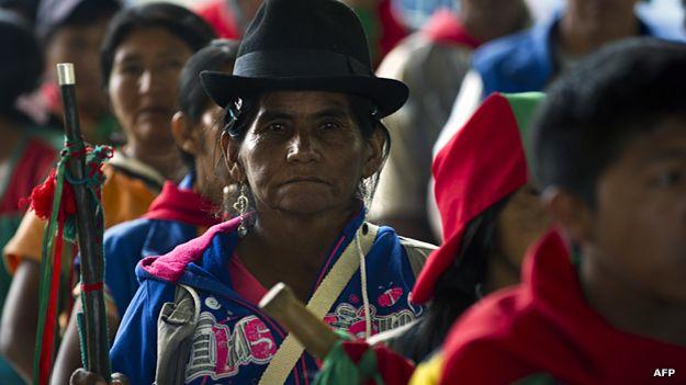 Guardias indígenas nasas.