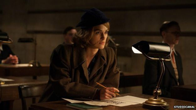 "Keira Knightley como Joan Clarke en ""The Imitation Game""."