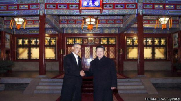 中国国家主席习近平和美国总统奥巴