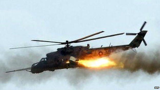 Сбитый армянский Ми-24