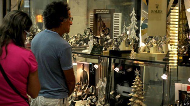 Loja de relógios (Foto AFP=