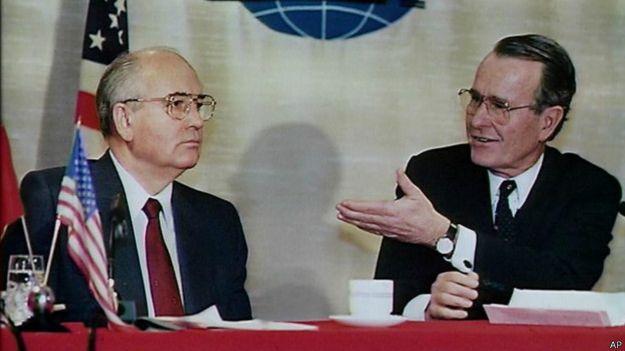 Gorbachev y Bush