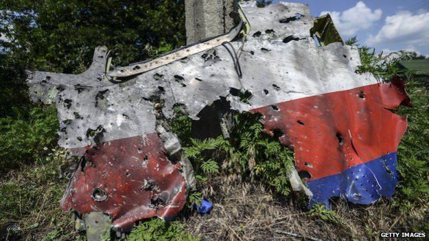 Фрагмент сбитого самолета