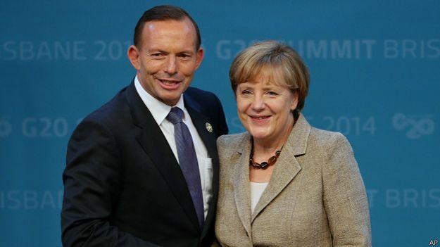 Ангела Меркель и Тони Эбботт