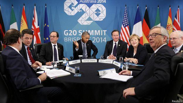 Встреча Барака Обамы с лидерами ЕС в Брисбене