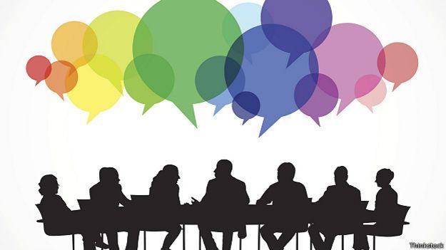 Графическое изображение разговоров на совещании