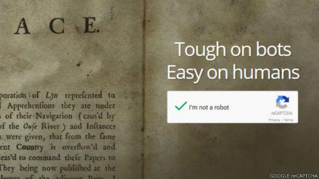 Captura de pantalla de Recaptcha de Google