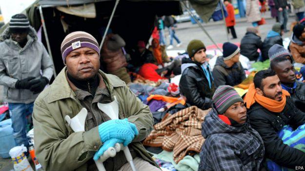 Беженцы в Мюнхене