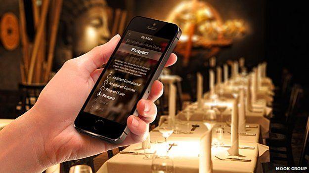 Aplicativo do restaurante Zenzakan, em Frankfurt   Foto: Mook Group