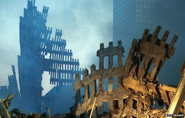 Restos do World Trade Center após o ataque de 11 de setembro de 2001 | Foto: Getty