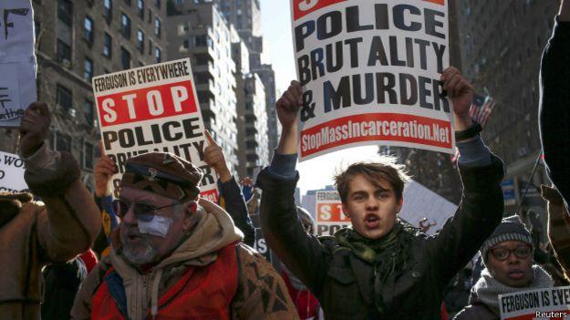 Protesto contra violência policial e racismo em Washington, no dia 13 de dezembro de 2014   Foto: Reuters