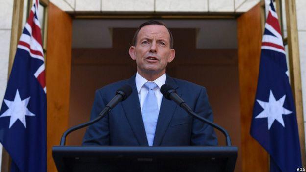 Tony Abbott, primer ministro de Australia