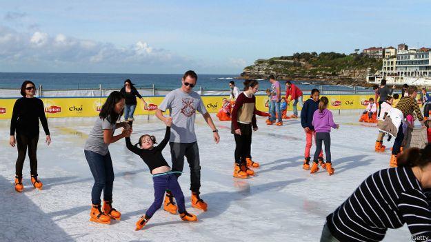 Pista de hielo en Sidney, Australia