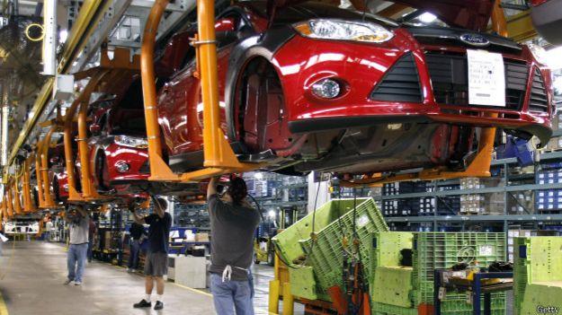 Fábrica de automóviles en Estados Unidos