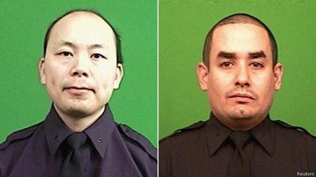 Oficiales de la policía de Nueva York, Rafael Ramos y Wenjian Liu