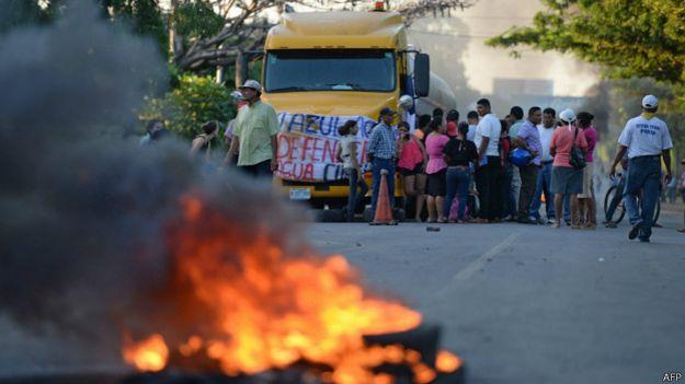 Protesta en Rivas