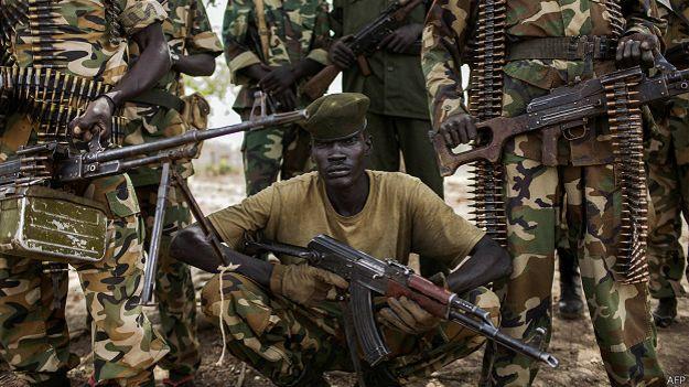 Солдаты армии Южного Судана