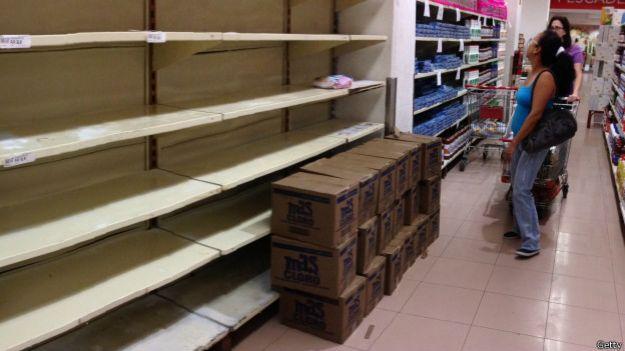 Desabastecimiento en Venezuela.