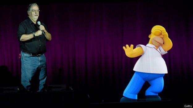 Мэтт Грейнинг и его Гомер Симпсон
