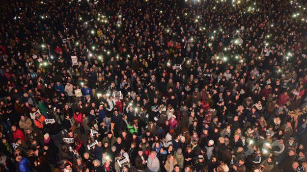 Демонстрация в Тулузе