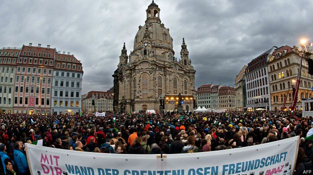 Dresden, o bastião do movimento anti-Islã