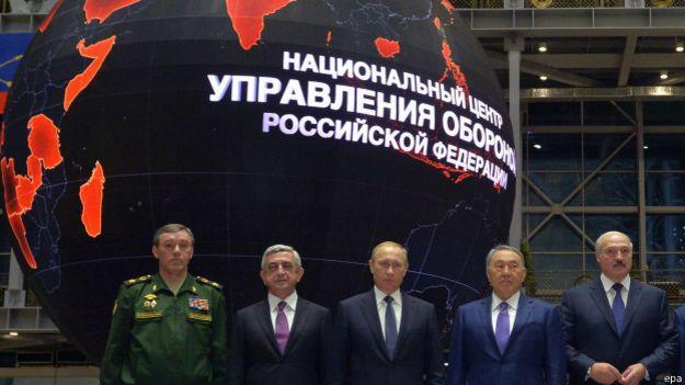Putin con dirigentes aliados