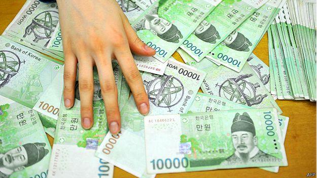 Billetes surcoreanos