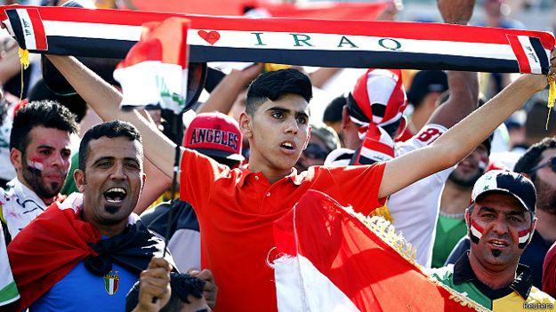 الجمهور العراقي كان حاضرا وبقوة في الملعب