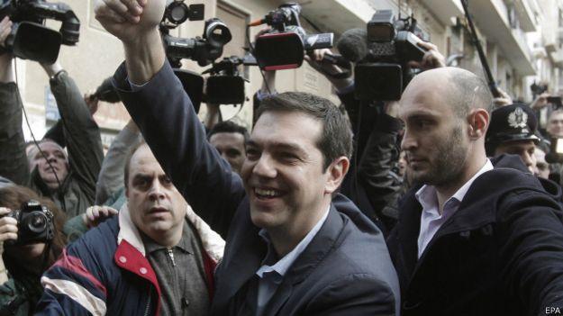 Tsipras con cámaras