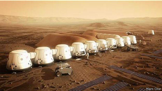 Так может выглядеть колония на Марсе