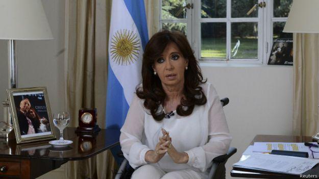 Cristina Fernández en cadena nacional