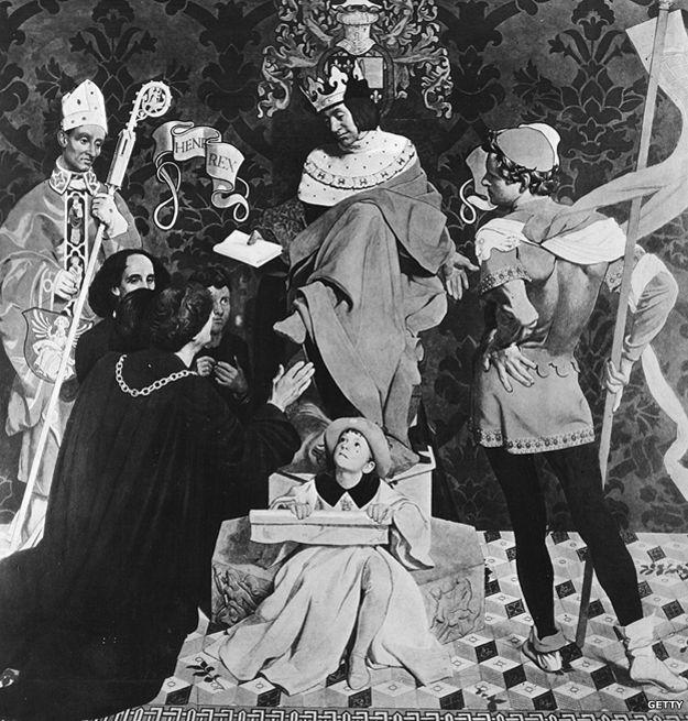 Juan Caboto ante el rey Enrique VII