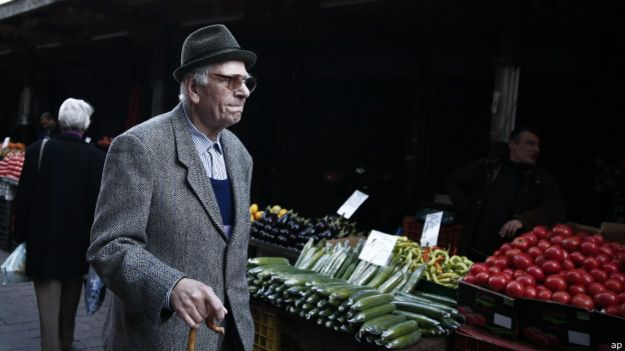 Anciano en Grecia