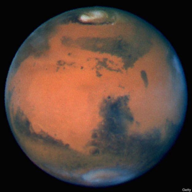 El planeta Marte, en una foto tomada en 1999