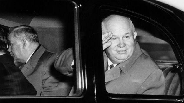 Nikita Khruschev en una foto de 1956