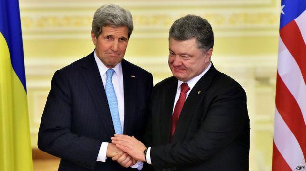 Джон Керри и Петр Порошенко