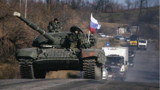 Колонна пророссийских сепаратистов