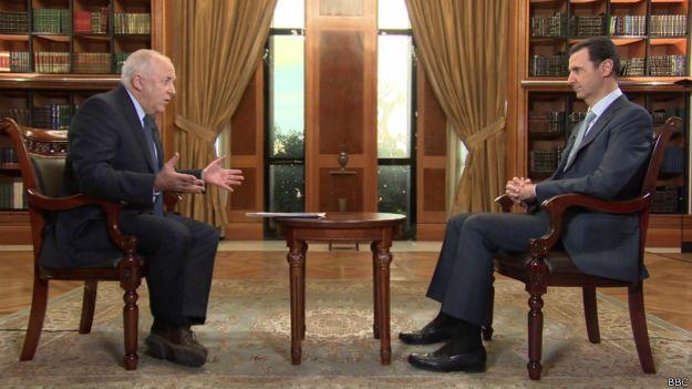 В ходе интервью с Башаром Асадом