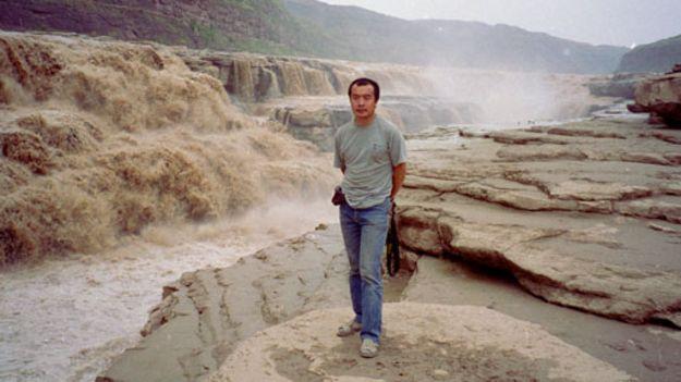 王力雄-1993年黄河壶口瀑布
