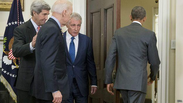 Obama y gabinete