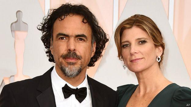 Iñarritu y su esposa