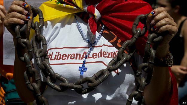 Protesta de la oposición venezolana