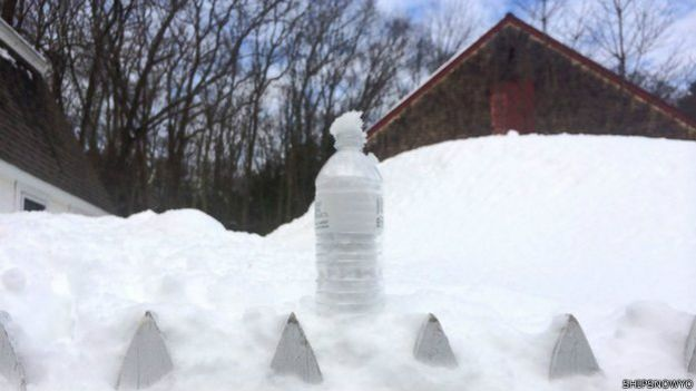 Botella de nieve
