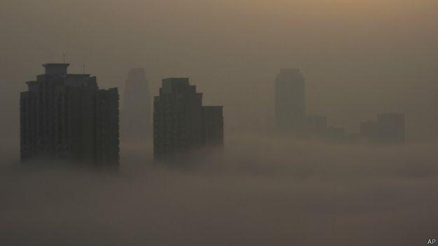 Fog em cidade chinesa