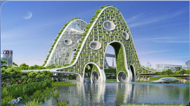 Muchas de las construcciones serían capaces de producir su propia energía, según el estudio de Vincent Callebaut.