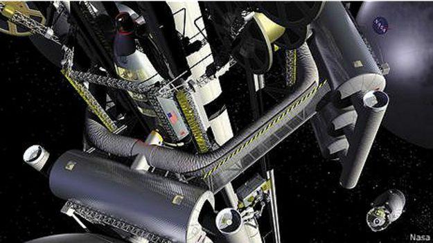 Космический лифт над Землей
